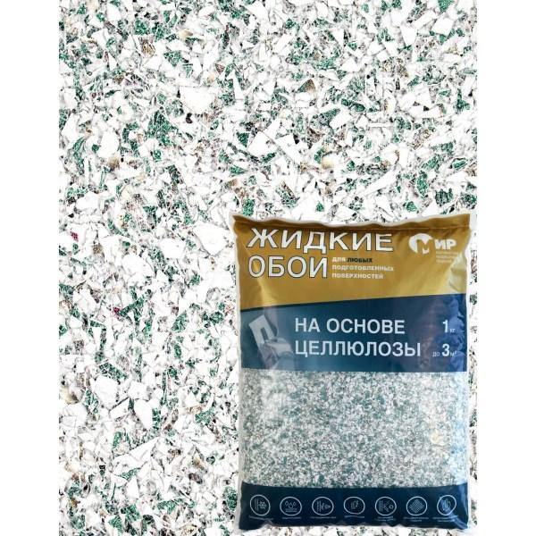 Жидкие обои на основе целлюлозы 1 кг цвет зеленый в Рязани ...