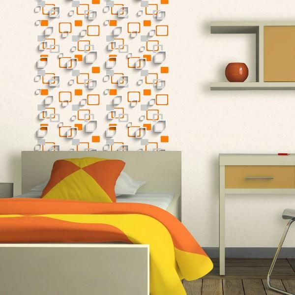 Обои виниловые 053х10 м геометрия цвет оранжевый Эл 96902