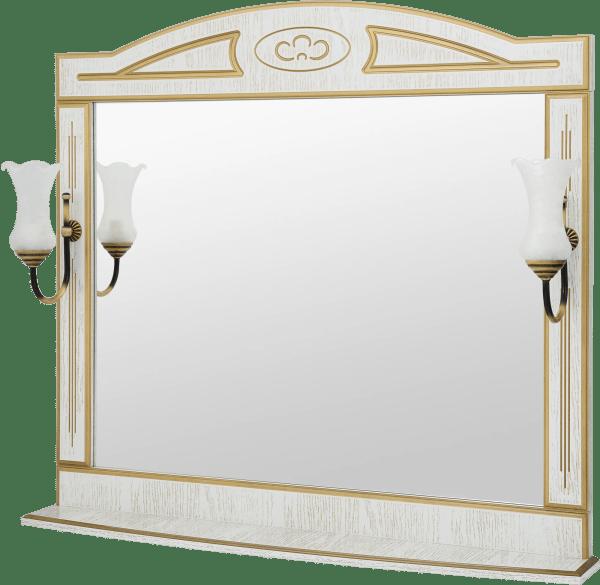 Зеркало «Луиза» 105 см цвет белое золото в Москве – купить ...