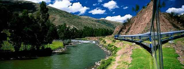 Image result for The Expedition train ride train takes you through the Sacred Valley