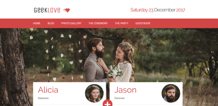 The Best 6 Wedding Wordpress Themes Released in 2017 - Web Design