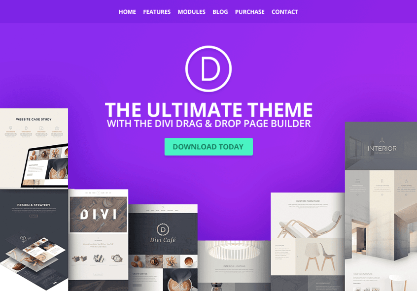 the ultimate page builder - divi theme from elegant themes