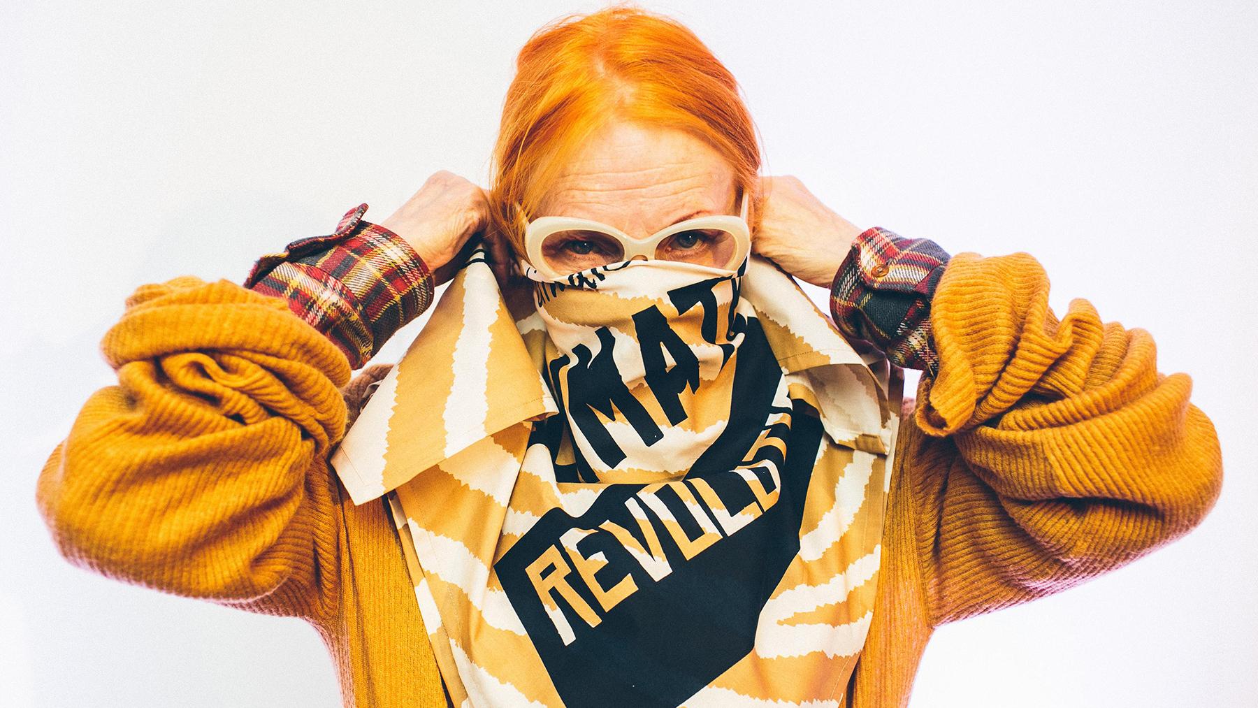 Vivienne Westwood Creates Climate Revolution Knot Wrap