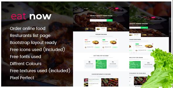Eat Now Restaurants Directory - PSD - 8
