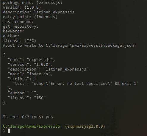 Cara Memasang Framework ExpressJS
