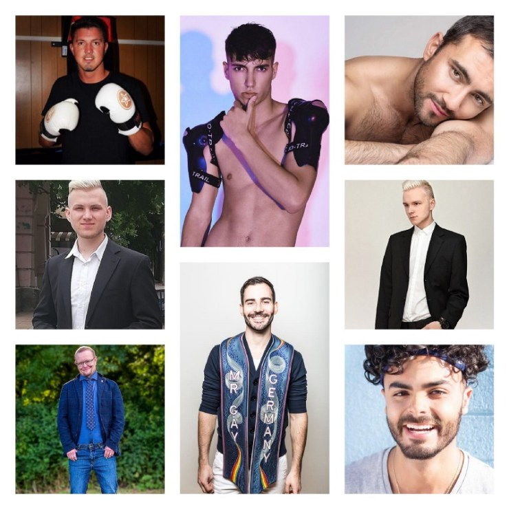 Some of the contestants from Mr Gay Europe 2018 (images supplied)