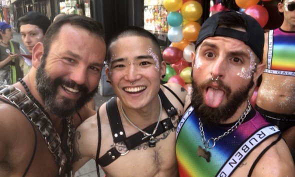 Yoshi Kawasaki and friends at Pride in London 2018 (image supplied)