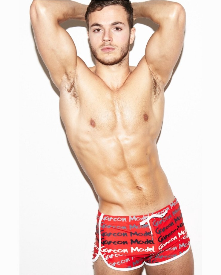 Red Graffiti Swim Short (image courtesy of Garçon Model)