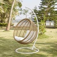 fauteuil suspendu de jardin en resine tressee