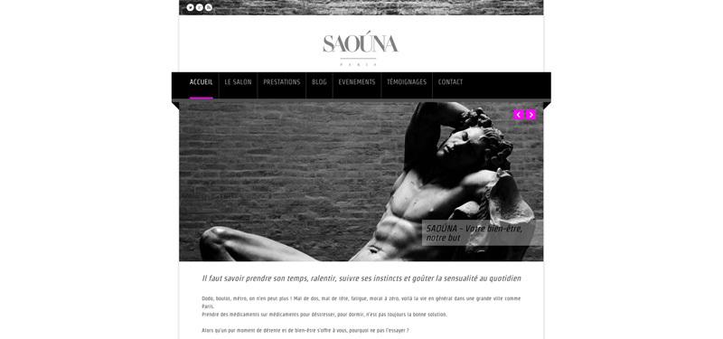 Saouna.com, salon de massage naturiste parisien