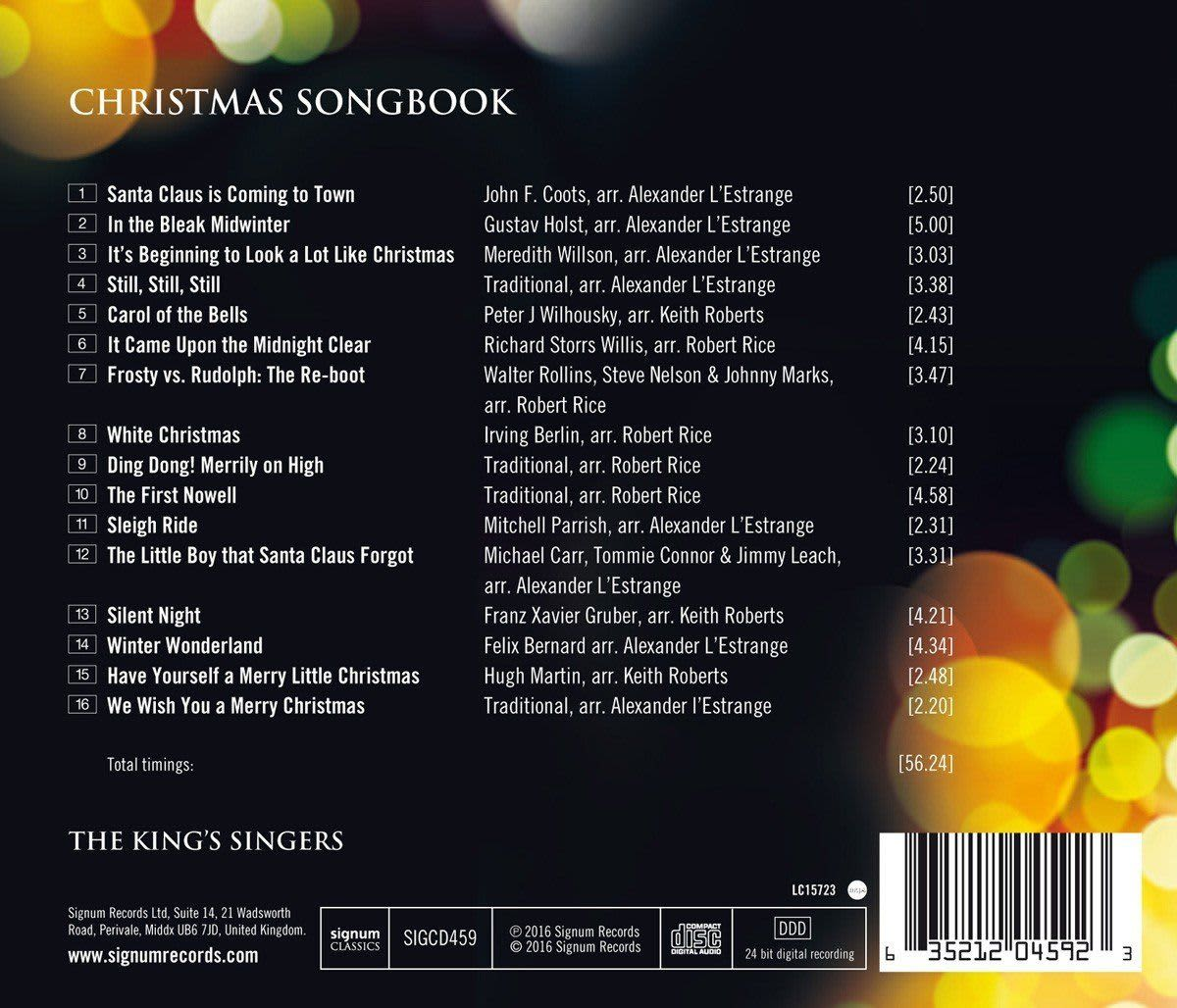 Photo No.2 of The Kings Singers Christmas Songbook