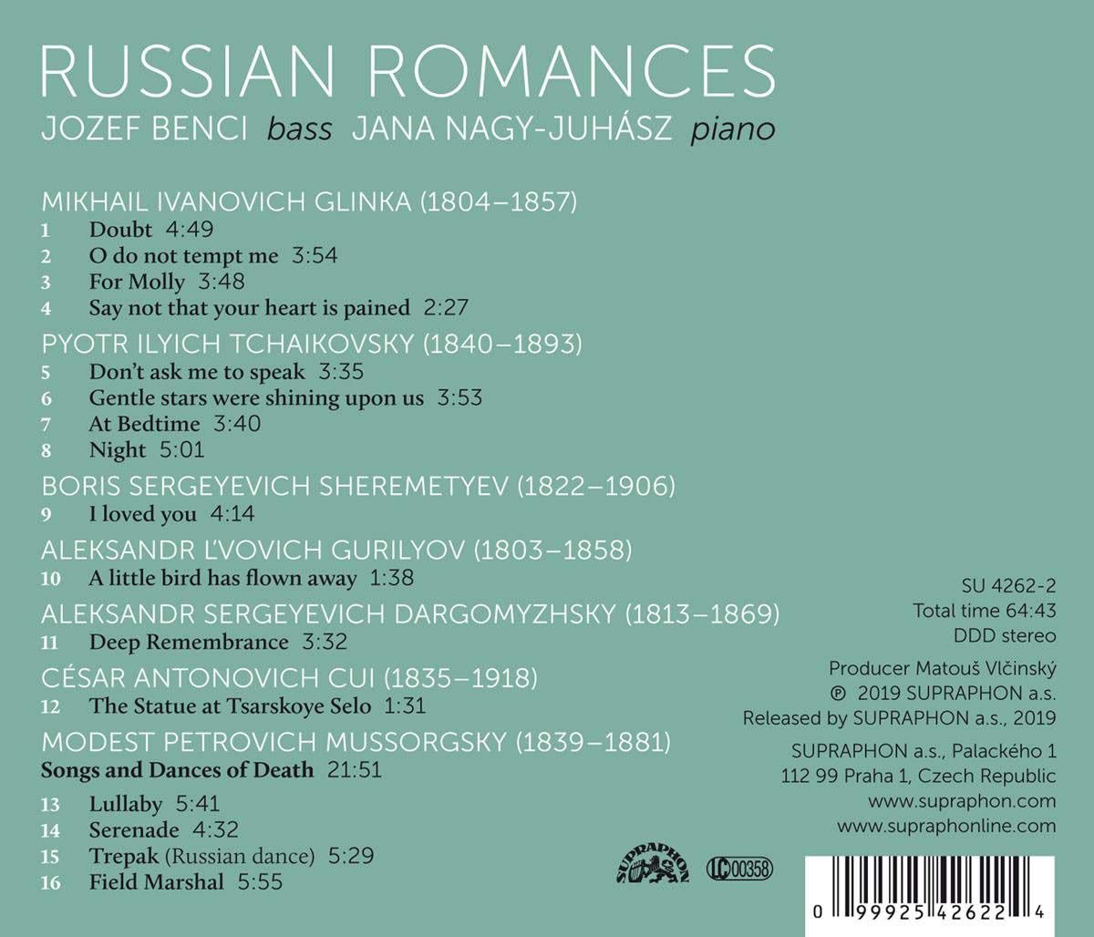 Photo No.2 of Russian Romances: Mussorgsky, Tchaikovsky, Glinka