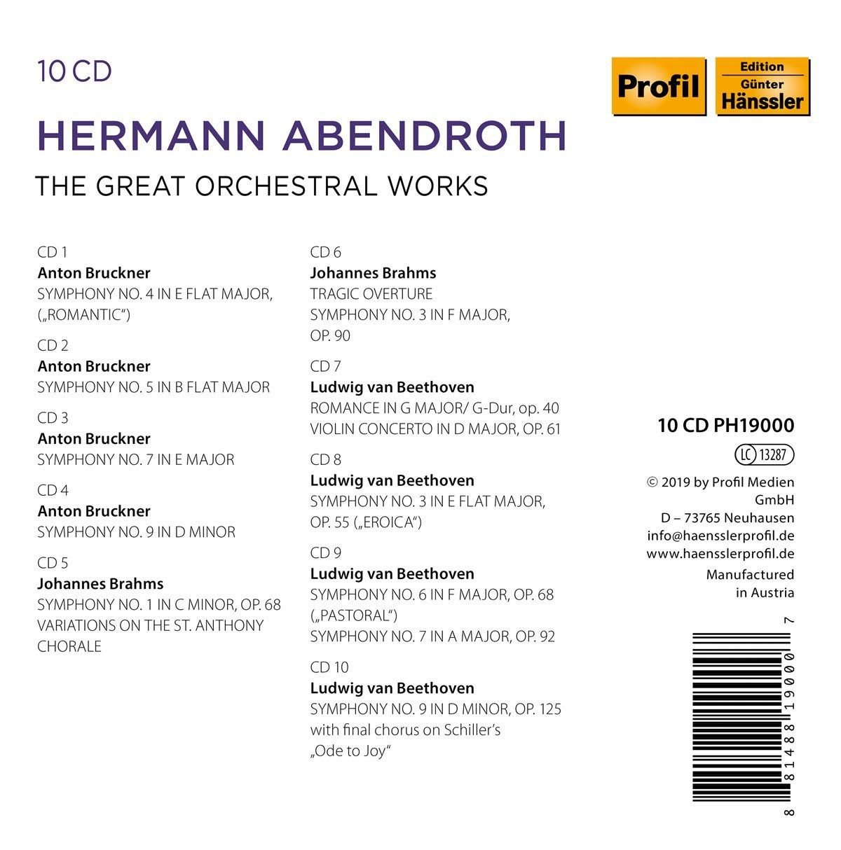 Photo No.2 of Abendroth conducts Beethoven, Brahms & Bruckner: Orchestral Works
