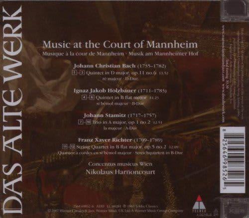Photo No.2 of J.C. Bach, Richter, Holzbauer, J. Stamitz: Music At The Court Of Mannheim