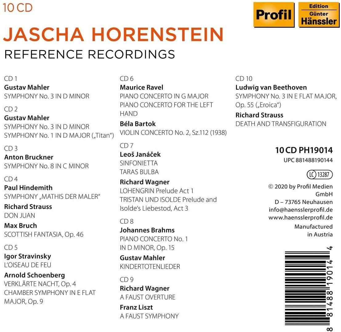 Photo No.2 of Jascha Horenstein: Reference Recordings