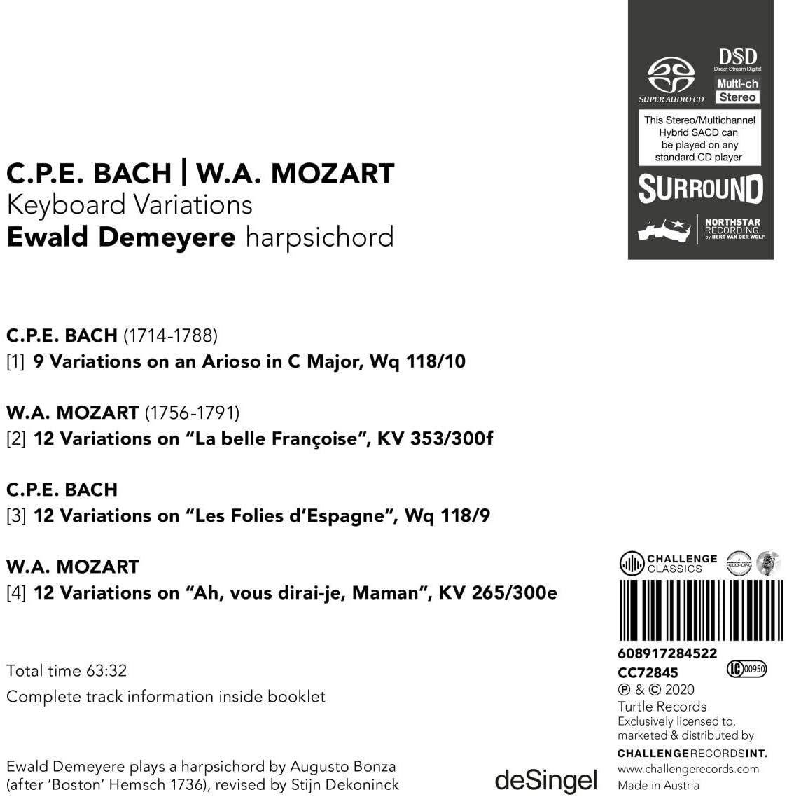 Photo No.2 of CPE Bach & Mozart: Keyboard Variations