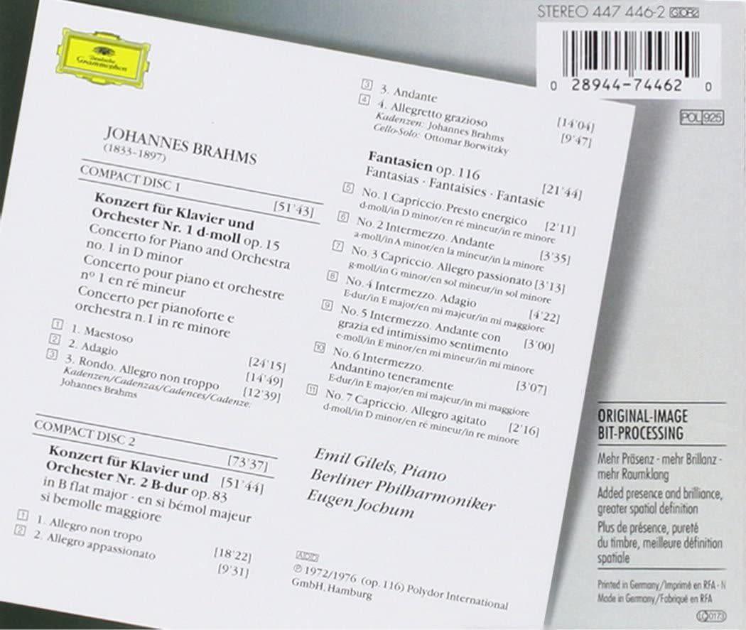 Photo No.2 of Johannes Brahms: Piano Concertos Nos. 1 & 2