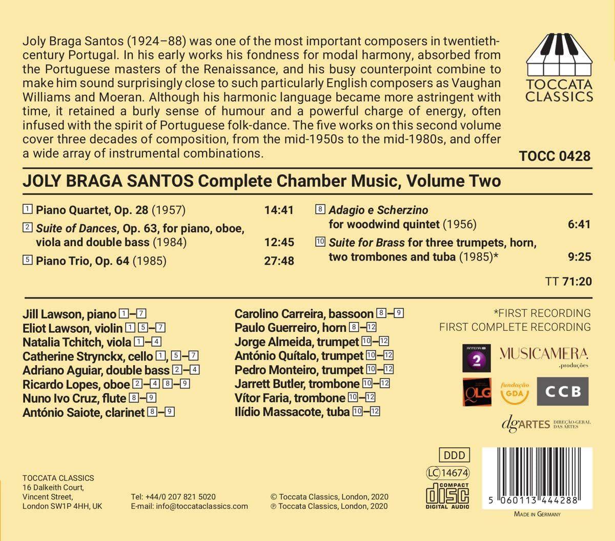 Photo No.2 of Joly Braga Santos: Complete Chamber Music, Volume Two