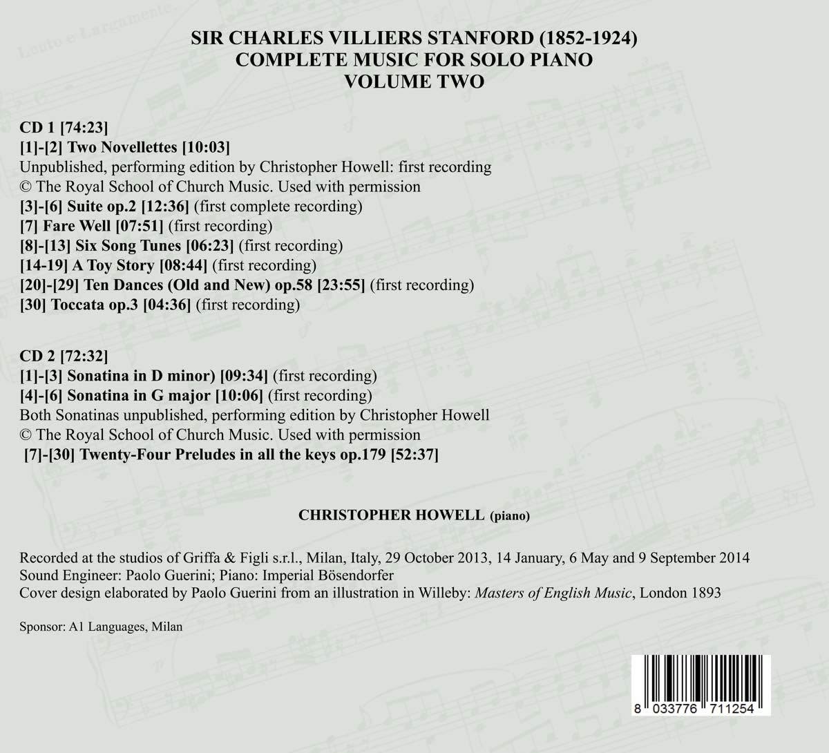 Photo No.2 of Stanford: Works for Piano Solo Vol. 2