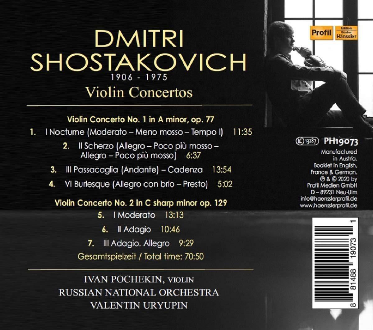 Photo No.2 of Shostakovich: Violin Concertos Nos. 1 & 2