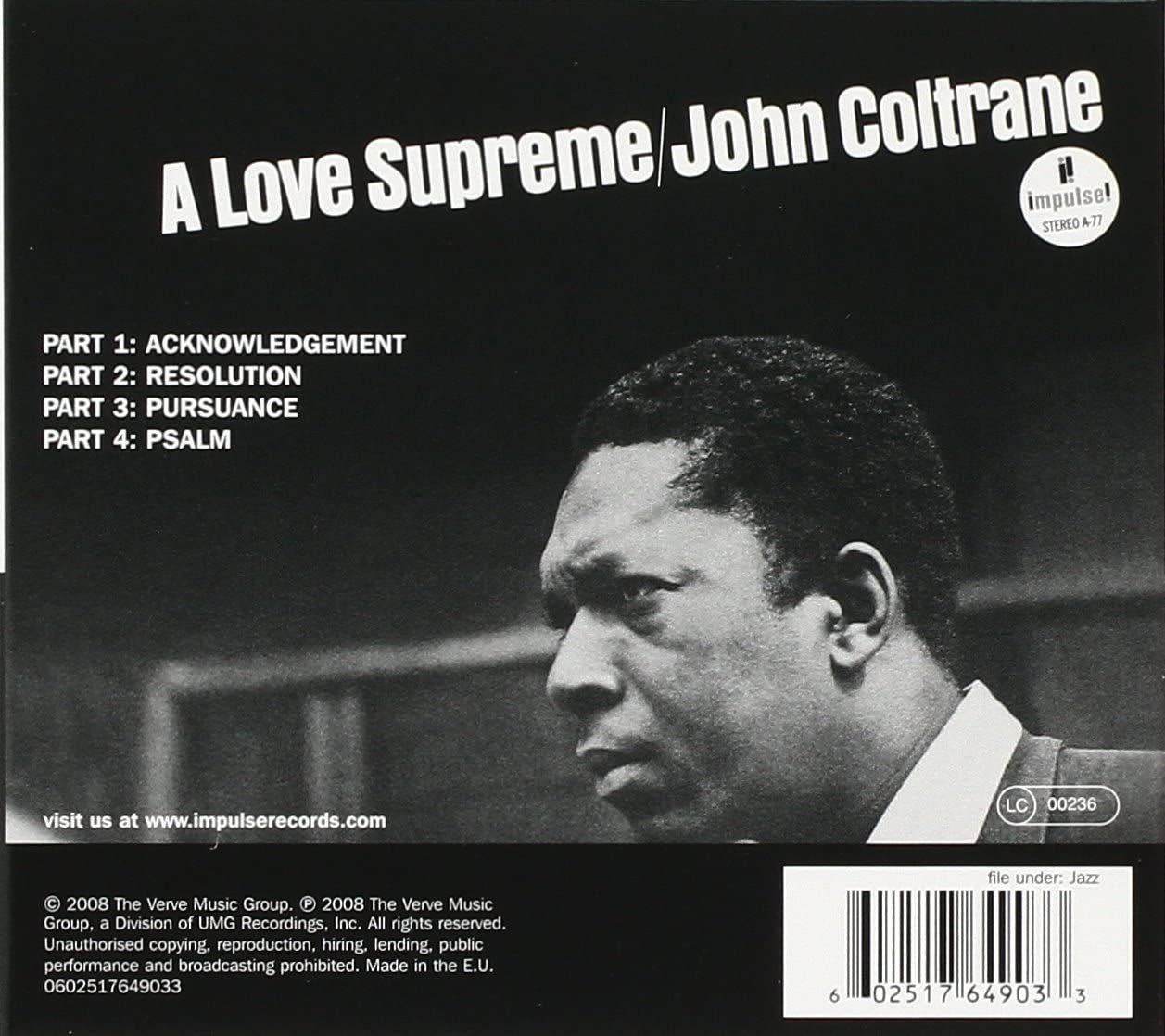 Photo No.2 of John Coltrane: A Love Supreme (Originals)