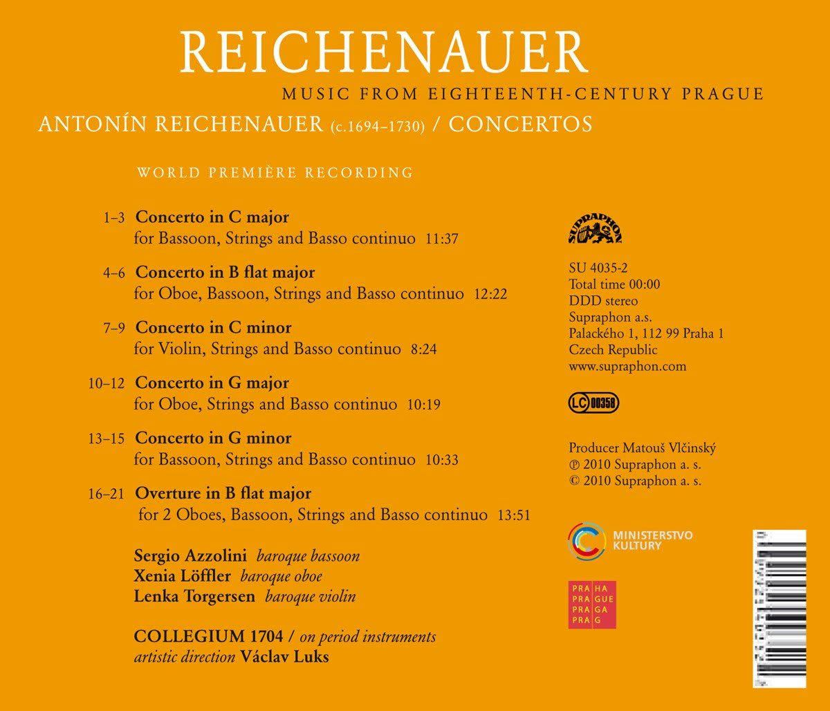 Photo No.2 of Antonín Reichenauer: Concertos