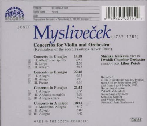 Photo No.2 of Mysliveček: Concertos for Violin and Orchestra