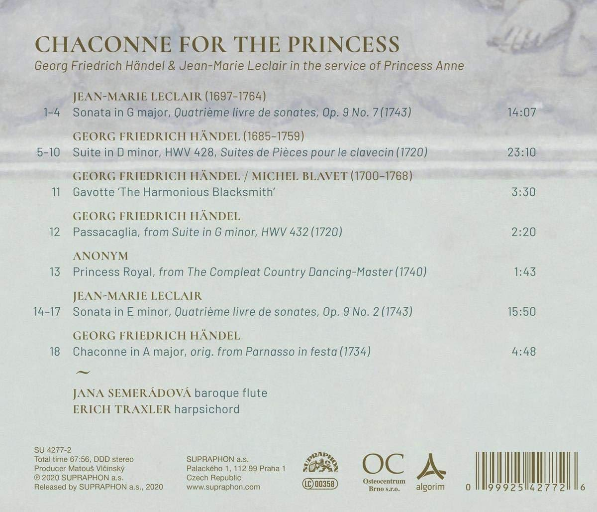 Photo No.2 of Chaconne For The Princess – Music by Handel & Leclair