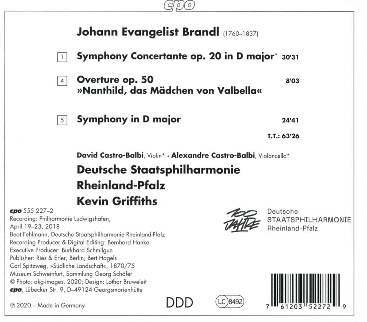 Photo No.2 of Brandl: Symphony Concertante, Symphony in D major