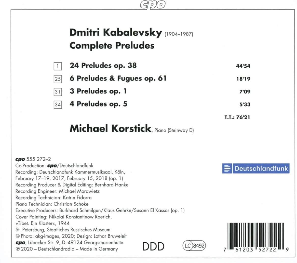 Photo No.2 of Kabalevsky: Complete Piano Preludes