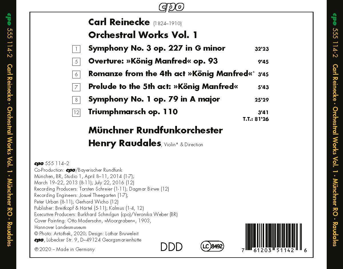 Photo No.2 of Reinecke: Orchestral Works Vol. 1
