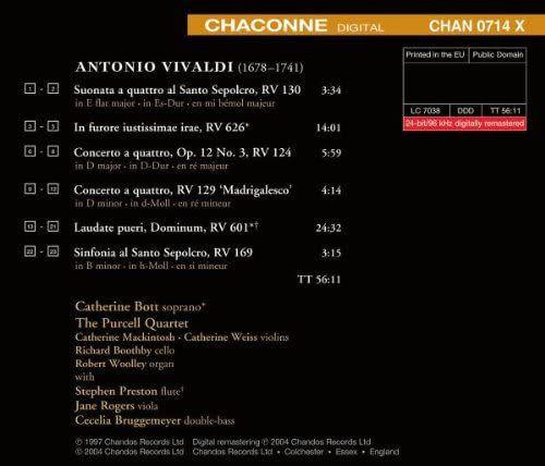 Photo No.2 of Vivaldi: In furore iustissimae irae, Laudate pueri & various orchestral works