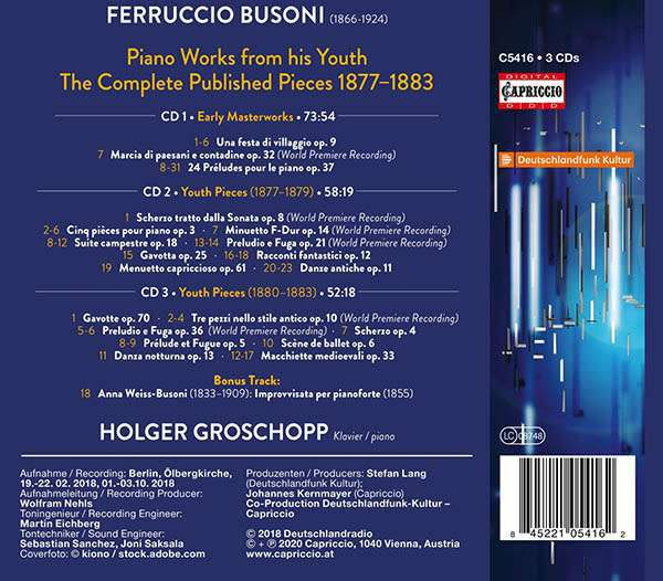 Photo No.2 of Busoni: Early Masterpieces 1877-1883