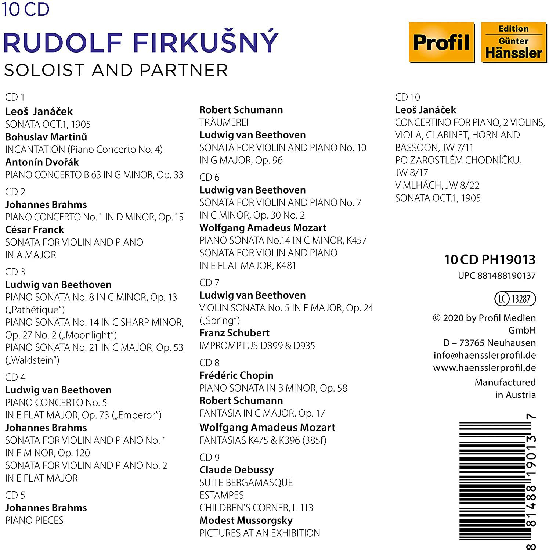 Photo No.2 of Rudolf Firkušný - Soloist and Partner