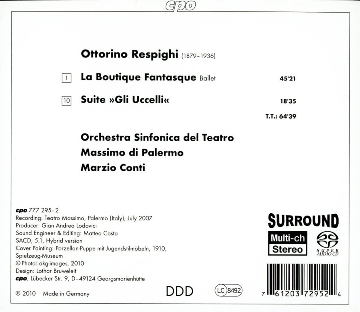 Photo No.2 of Respighi: La Boutique Fantasque