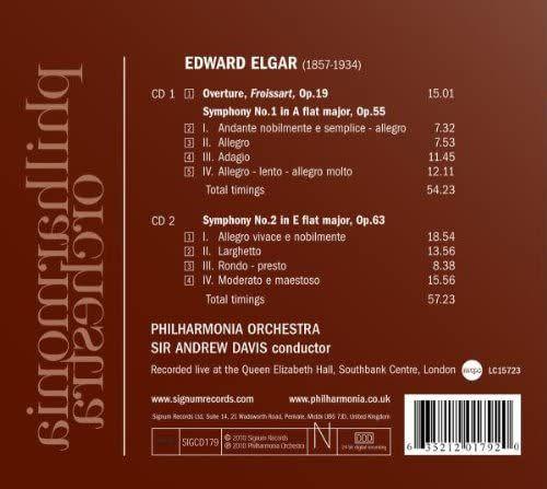 Photo No.2 of Elgar - Symphonies Nos. 1 & 2