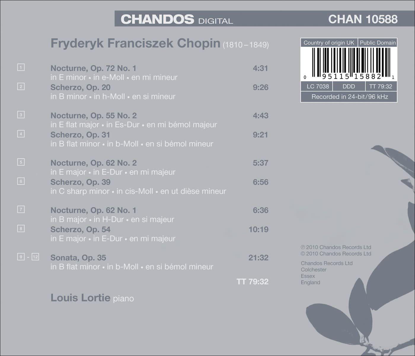 Photo No.2 of Louis Lortie plays Chopin Volume 1