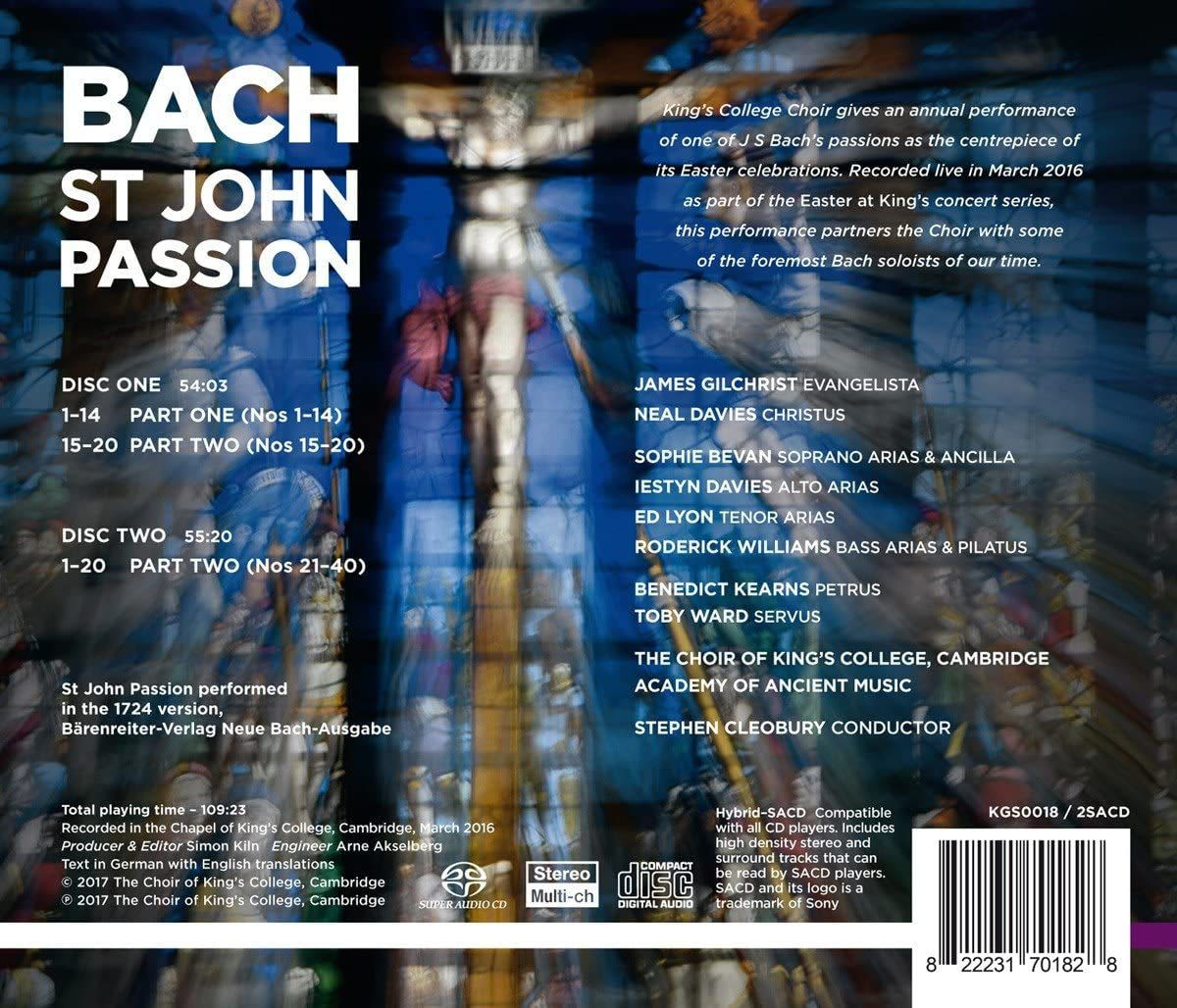 Photo No.2 of J.S. Bach: St John Passion, BWV245