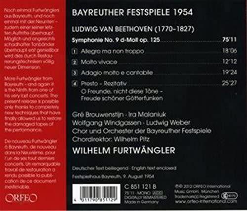 Photo No.2 of Beethoven: Symphony No. 9 (Bayreuth, 1954)