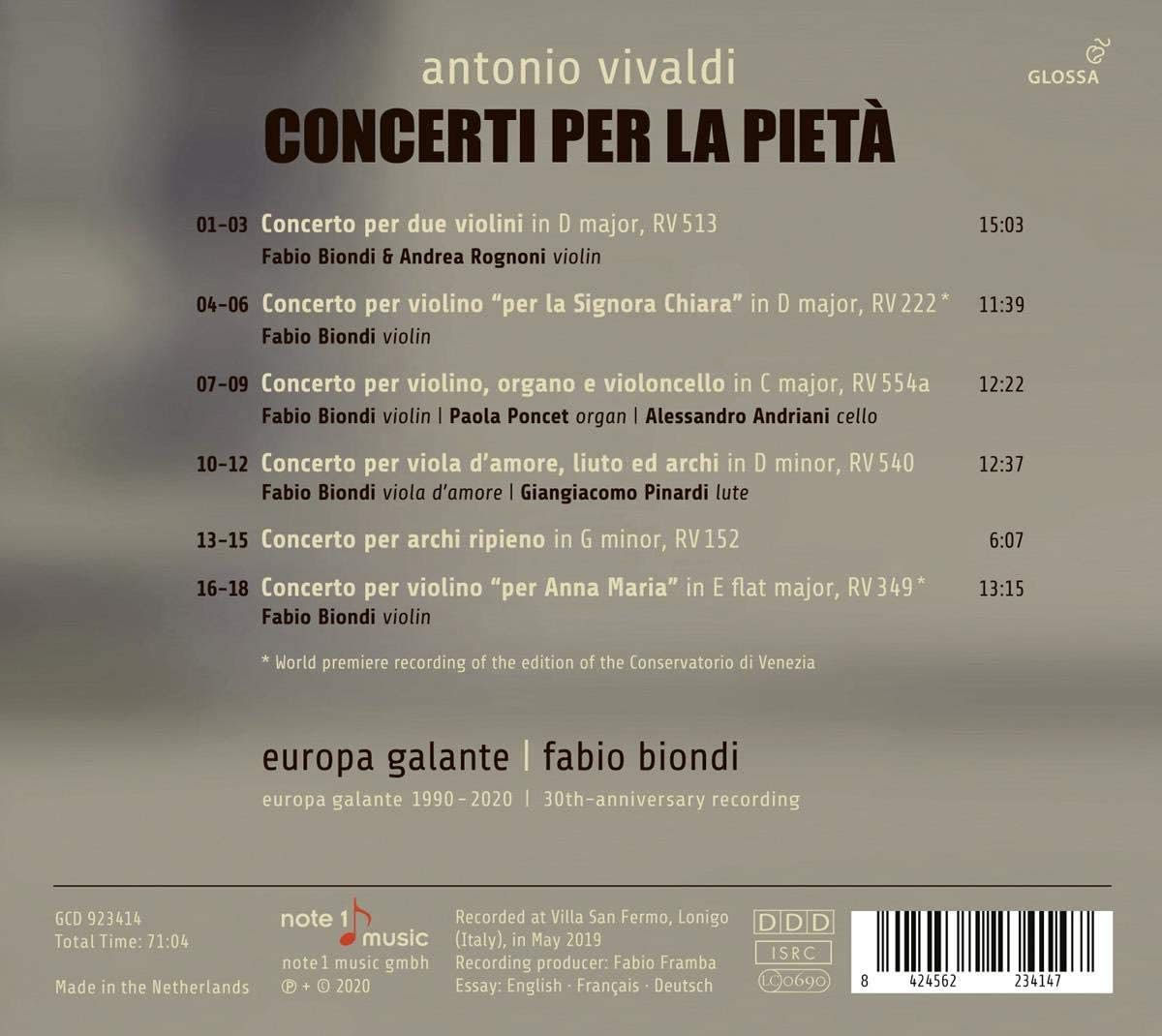Photo No.2 of Vivaldi: Concerti Per La Pieta