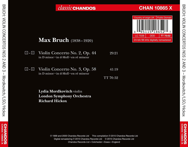 Photo No.2 of Bruch: Violin Concertos Nos. 2 & 3