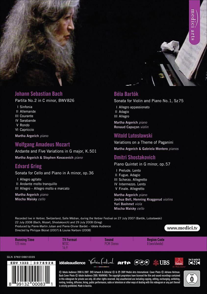 Photo No.2 of Martha Argerich Live At Verbier Festival 2007-2008