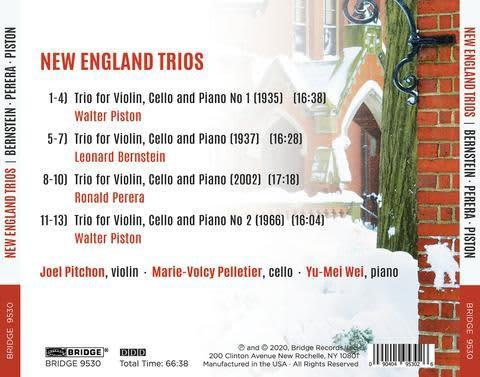 Photo No.2 of New England Trios: Piston, Bernstein, Perera