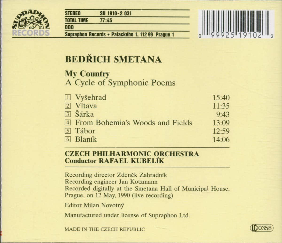 Photo No.2 of Bedrich Smetana: My Country
