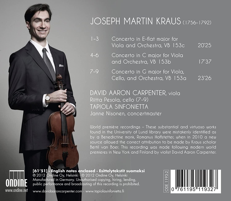 Photo No.2 of Joseph Martin Kraus: Viola Concertos