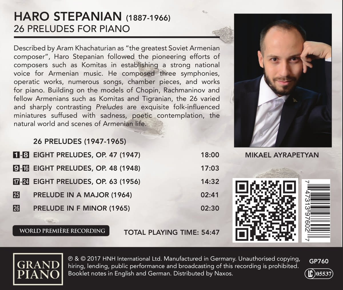 Photo No.2 of Haro Stepanian: 26 Preludes for Piano