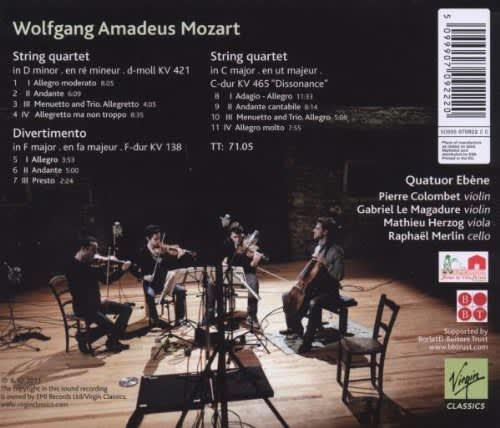 Photo No.2 of Mozart: Dissonances / String Quartets KV 421 & 465, Divertimento KV 138