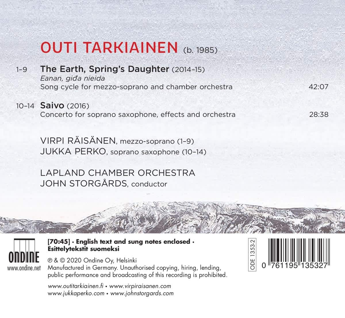 Photo No.2 of Outi Tarkiainen: The Earth, Springs Daughter & Saivo