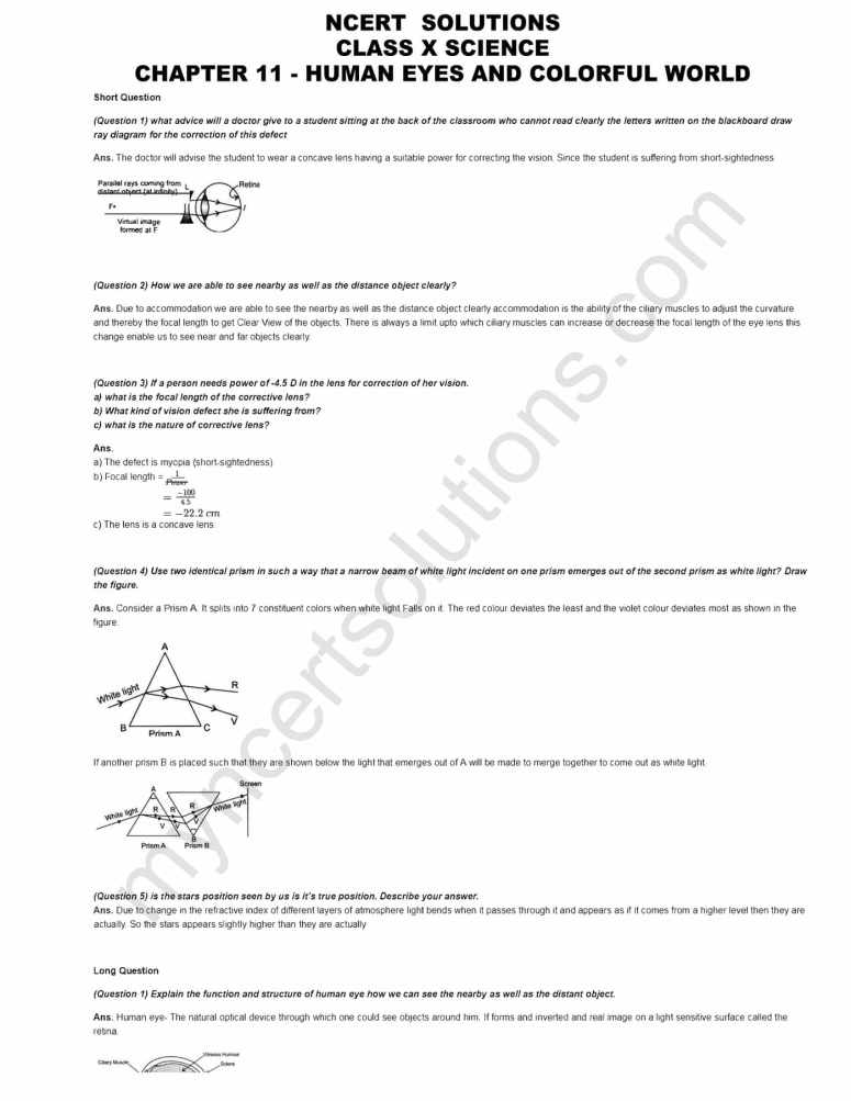 Ncert solutions for class 10 science chapter 11 human eye and ncert solutions class 10 science chapter 11 pdf ccuart Choice Image
