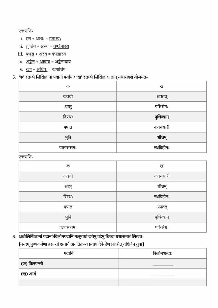 ncert solutions class 9 sanskrit shemushi chapter 10 jatayo shoryam 3
